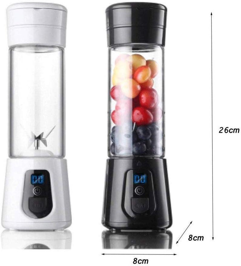 Portable Mini Voyage Fruit Cup Juicer, jus personnel Petit Batteur électrique machine Blender (Couleur: Blanc) ANJT (Color : Black) White
