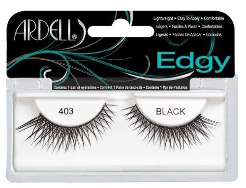 Colored False Eyelashes (Ardell Edgy Fake Eyelashes, 403 Black)