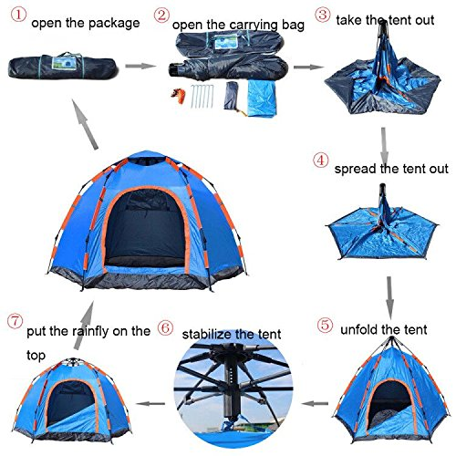 Wnnideo Instant Family 2-3 Person Tent Automatic Pop Up Tents Waterproof for Outdoor Sports C&ing Hiking Travel Beach  sc 1 st  Trek-O-Hike & Wnnideo Instant Family 2-3 Person Tent Automatic Pop Up Tents ...