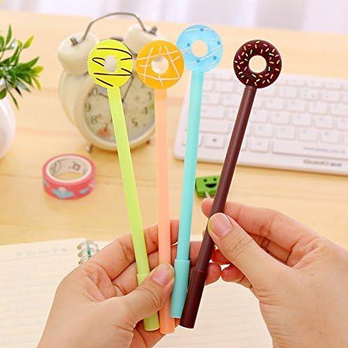 Kawaii Stationery Doughnut Pen 2x Kawaii Sweet Cake Donut Gel Pens ~ Cute Pens