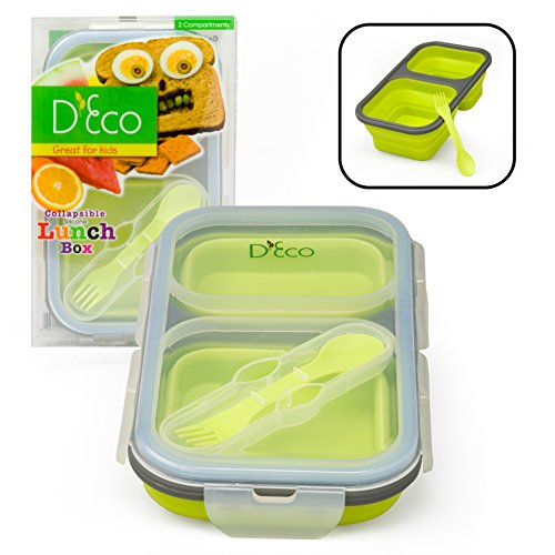 Collapsible Silicone Storage Compartments Utensil