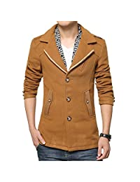 ICEGREY Men's Wool Blend Pea Coat Slim Fit Winter Coat