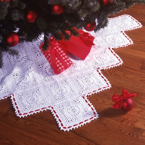 Traditional Elegance Tree Skirt Thread Crochet (Crochet Tree Skirt)