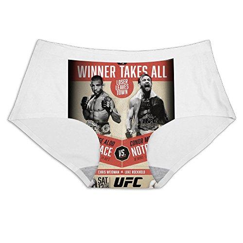 MeiSXue Women's UFC 194 Aldo Vs McGregor Weidman VS Rockhold Ice Silk Briefs (Conor Mcgregor Vs Jose Aldo Ufc 194)