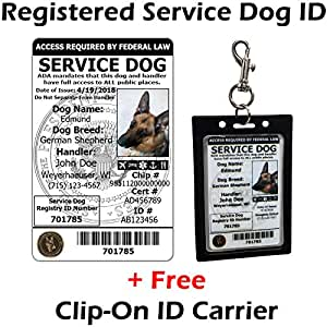 service dog tags free