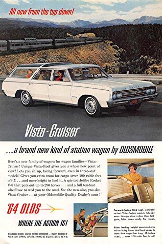 Print Ad 1964 Vista-Cruiser a brand new kind of station wagon by Oldsmobile - Oldsmobile Station Wagons