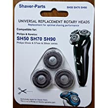 Alternative Philips / Noreco Shaving Heads type SH50 SH70 SH90 (fits in) for Philips / Norelco shavers.