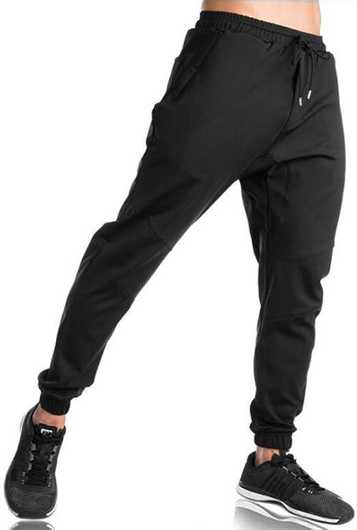 EKLENTSON - Pantalones de chándal elásticos para Hombre, algodón ...