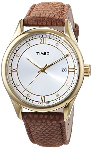 Timex-Analog-quartz-Wristwatch-Leather