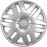 """OxGord WCKT-997-14-SL Wheel Cover/Hub Cap, Silver/Lacquer, 14"""""""