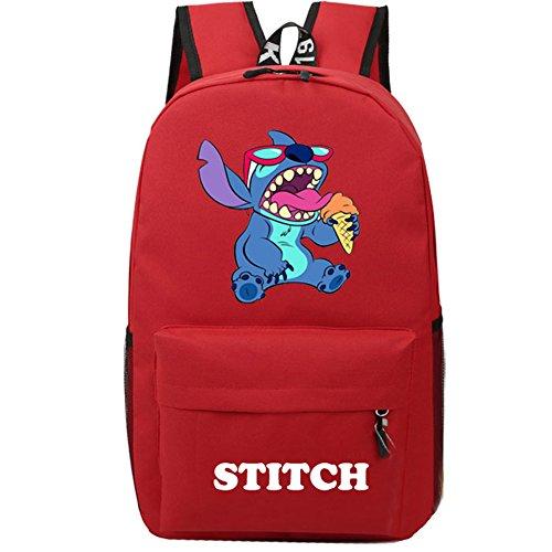 YOURNELO Cartoon Lilo & Stitch Backpack Canvas School Bag Bo