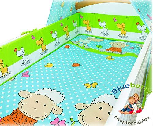 BlueberryShop 2 pcs BABY COT BED BUNDLE BEDDING SET DUVET+PILLOW COVERS matching cot bed 120 x 150 cm (47