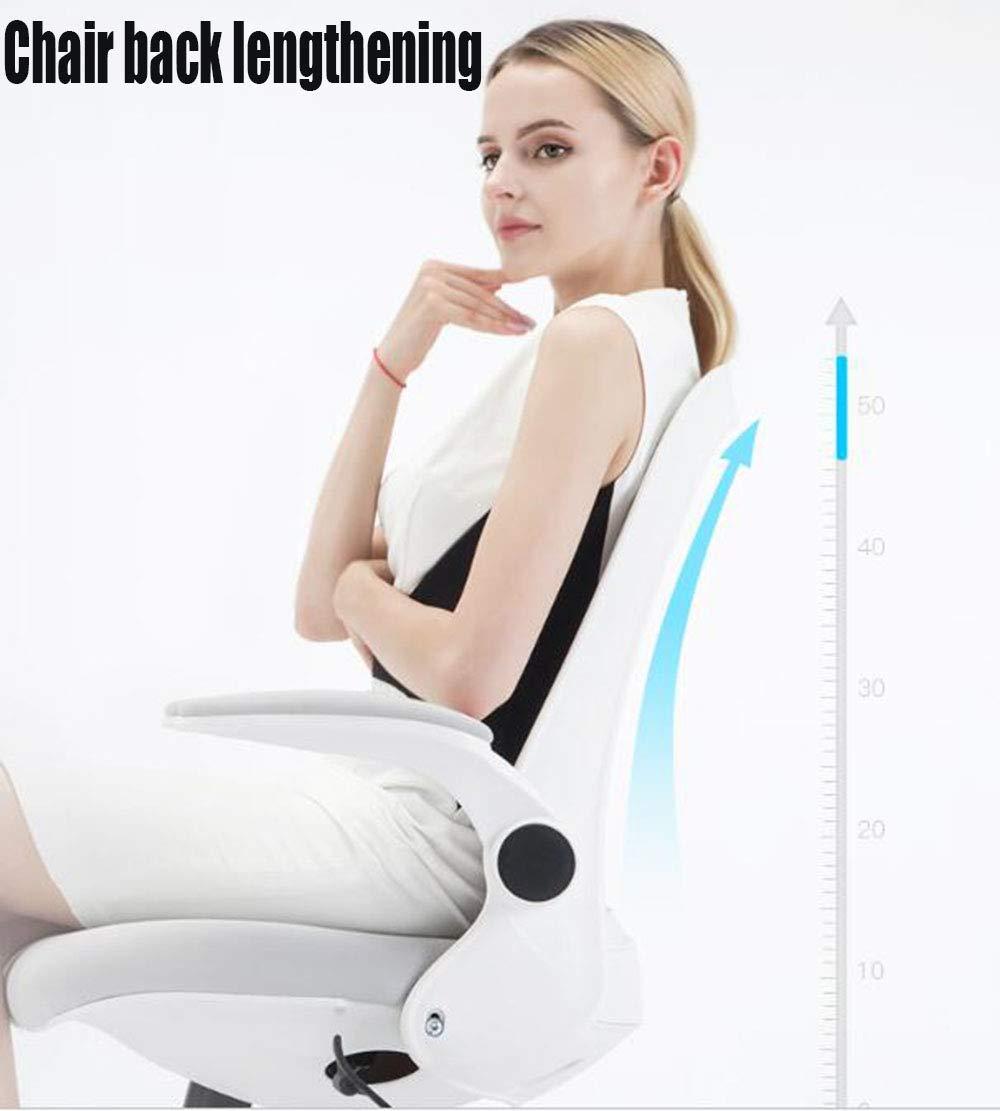 JIEER-C stol datorstol, kontorsstol hem student lär sig att skriva roterande lyftarmstöd nylonfötter (färg: ORANGE) Svart