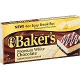Baker's Premium White Chocolate Baking Chocolate Bar, 4 Oz by Baker's