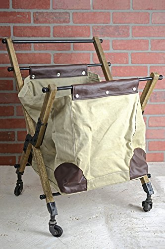 Rolling Vintage Canvas Mail Bag 28 x 21 by SOC