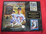 Greg Maddux Cubs Hall of Fame 2 Card Collector Plaque w/8x10 Photo!