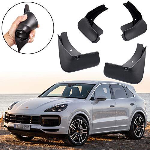 SPEEDLONG 4Pcs Car Mud Flaps Mudguard Splash Guards Fender for Porsche Cayenne 2018 2019 (Best Tyres For Porsche Cayenne)