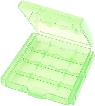 X-DREE Caja de almacenamiento alto rendimiento de soporte de esencial caja de plástico bien hecho verde pálido para pila AAA AA(0e4-1c-77-3ba): Amazon.es: Bricolaje y herramientas