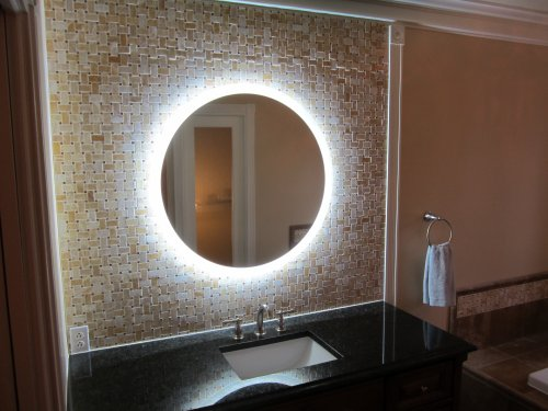 Lighted Wall Mirror: Amazon.com: Wall Mounted Lighted Vanity Mirror LED MAM2D32 Commercial Grade  32