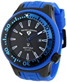 Swiss Legend Men's 11818A-BB-01-BLS-W Neptune Automatic Black Dial Royal Blue Silicone Watch, Watch Central