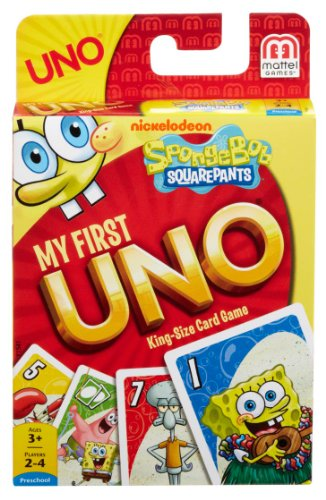 (Mattel Games Spongebob Squarepants My First UNO Card Game)