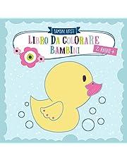 Libro da colorare bambini 2 anni +: colorare e scarabocchiare le prime parole per ragazze e ragazzi con animali, veicoli, sole, luna e stelle