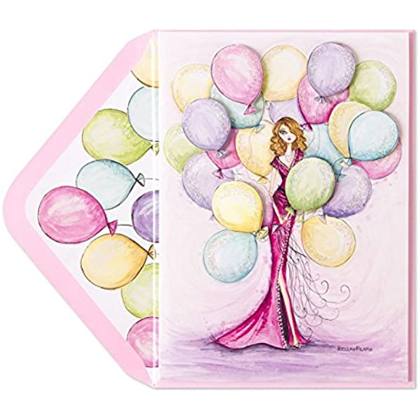 8 PAPYRUS Bella Pilar blank small note cards W// confetti bags