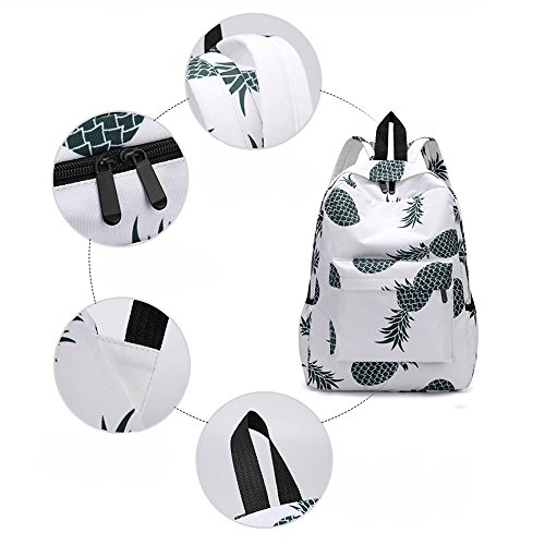 large on black Backpack Style handbags A shoulder Female Pineapple Spring for girls Travel Print leather bags Ůʽ waterproof school Women women small sale men Bookbags Backpacks ladies boys Fresh HazSzq
