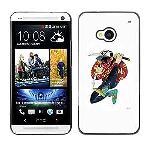 Ihec Tech Samurai Cartoon Music Hip Hop Amigo / Funda Case back Cover guard / for HTC One M7