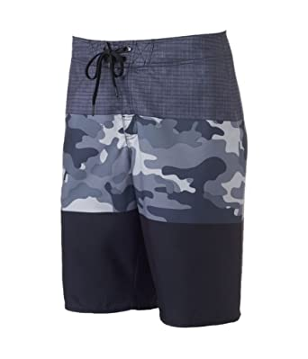 c78b3f4490 Hang Ten Mens Camo Stretch Swim Bottom Board Shorts Black 28 ...