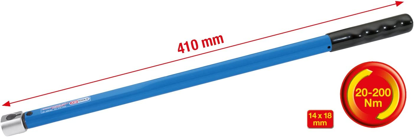 KS Tools 516.1840 14x18mmERGOTORQUEprecision Einsteck-Drehmomentschl/üssel festeingestellt 20-200Nm