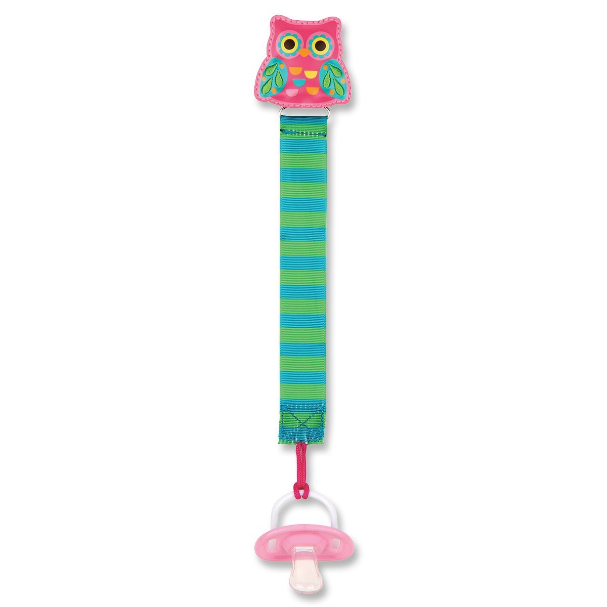 Amazon.com : Clip Chupete, Búho rosado : Baby