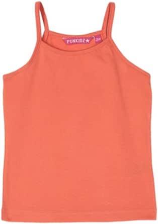 Eve Mode - Camiseta de tirantes lisa, 100% algodón, negro, rosa, coral coral 2 años: Amazon.es: Ropa y accesorios