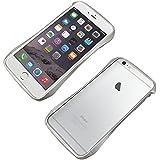 iPhone 6(S)Plus専用 三次元デザインアルミバンパー【Deff】CLEAVE Aluminum Bumper for iPhone 6(S) Plus/DCB-IP6PA6 (シルバー(銀))