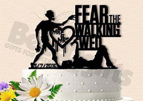Zombie Wedding Cake Topper Fear the Walking Wed -