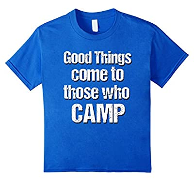 T-Shirt Funny Fun I Camp To Burn Off The Crazy Effect