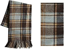 MissShorthair Winter Unisex Long Scarf Fashion Warm Grid Plaid Blanket Shawl Wrap