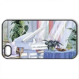 Afternoon Breeze - For Samsung Galaxy S3 I9300 Case Cover (Houses Series, Watercolor style, Black)
