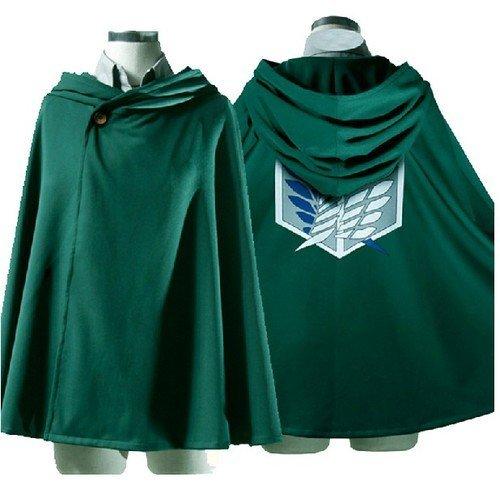 Shingeki No Kyojin Rivaille Costume (Mxnpolar Attack on Titan shingeki no Kyojin Rivaille Cloak Cape Cosplay Costume XL)