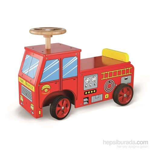 Serra Baby Vıga Toys Wood Fire Department by Serra Baby
