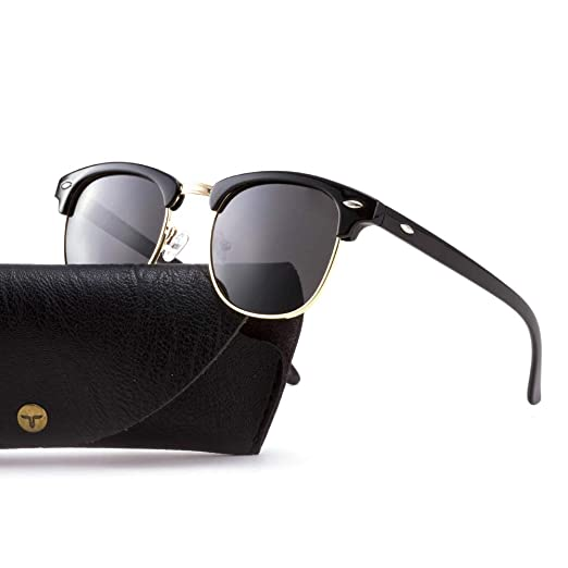 1d88d778e7e Tacloft Polarized Sunglasses Semi Rimless Frame Brand Designer Classic  Women Men Retro Sun Glasses