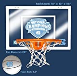 UNC Limited Edition 2017 Men's Basketball National Championship 12' X 18' Mini Backboard and Ball and Hoop Slam Jam Set