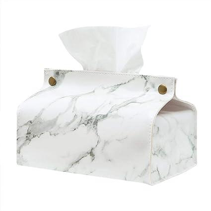 Ouken Plush Rabbit Tissue Box Cover White Rectangle Cute Napkin Paper Box Organizer Soft Napkin Holder Box