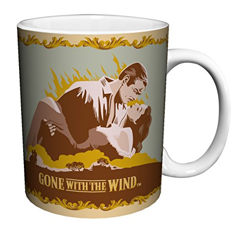 - Culturenik 815-1029 Gone with the Wind Kiss Illustration Classic Hollywood Romance Movie Film Ceramic Gift Coffee (Tea, Cocoa) 11 Oz. Mug