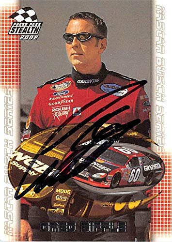 Greg Biffle autographed trading card (NASCAR, Auto Racing) 2002 Press Pass Stealth #46