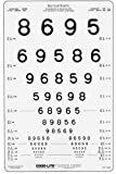 LEA Numbers Translucent Distance Eye Chart