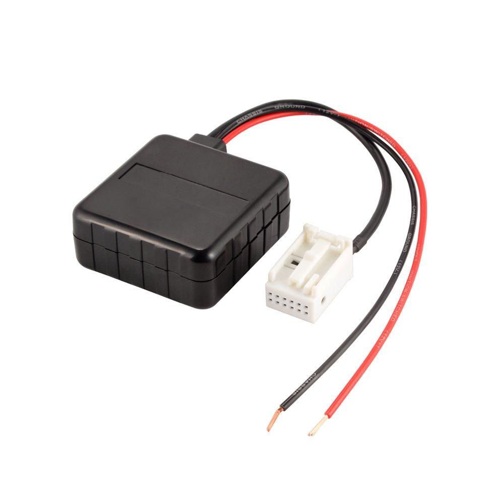 Kreema Car Bluetooth Modulo Radio Aux cavo adattatore stereo con filtro Ingresso audio wireless per BMW E60 03-10 E63 E64 E61 ULD-MA1497