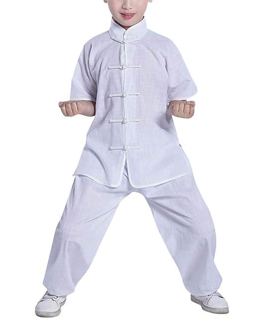 Chino Niño Niña Unisex Uniforme De Kung Fu Tai Chi Traje ...