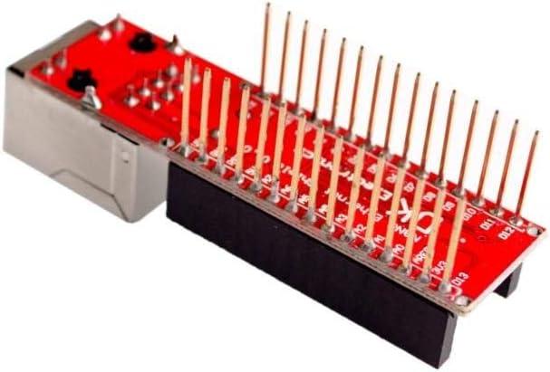 TD-ELECTRO Nano V3 Ethernet Shield ENC28J60 Microchip HR911105A Ethernet Webserver Board Module for Arduino Nano 3.0
