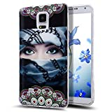 Galaxy Note 4 Case,NSSTAR Scratch-Proof Ultra Thin Crystal Clear Rubber Gel Transparent TPU Soft Silicone Bumper Case Cover with Shockproof Protective Case for Samsung Galaxy Note 4 N910,Mask Girl